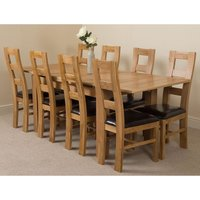 Richmond Solid Oak 140cm-220cm Extending Dining Table with 8