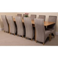 Richmond Solid Oak 200cm-280cm Extending Dining Table with 1