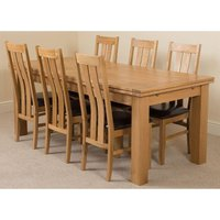 Richmond Solid Oak 200cm-280cm Extending Dining Table with