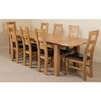 Richmond Solid Oak 200cm-280cm Extending Dining Table with 8