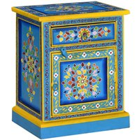 Riddleville 1 Drawer Bedside Table by Turquoise - Bloomsbury Market