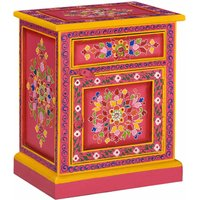 Riddleville 1 Drawer Bedside Table by Pink - Bloomsbury Market