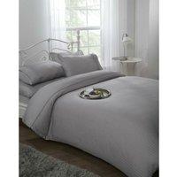 Ritz Duvet Cover Set 300TC 100% Cotton Silver Sating Bedding Single
