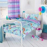 Riva Home Girls Mermaid Duvet Cover Set (Single) (Multicolour)