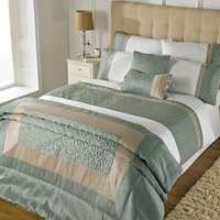 Riva Home Sophia Duvet Set (Single) (Duck Egg)