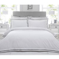 Riva Paoletti Sandringham Duvet Cover Set (Single) (Pewter)