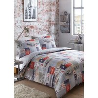 Road Trip Retro Cars King Size Duvet Cover Set Bedding Bed Set Vintage Style Teenagers