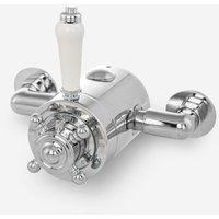 Roland Cross Traditional Chrome Bathroom Shower Thermostatic Exposed Shower Valve