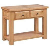 Rome Console Table with 2 Drawers and Shelf