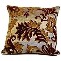 Rome Cushion Cover 17 x 17 Chocolate Bed Sofa Unfilled Accessory