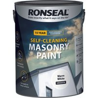 Ronseal Self-cleaning Masonry Paint - Warm White - 5l