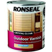 Trade Crystal Clear Exterior - Varnish Satin - 750ml - Ronseal