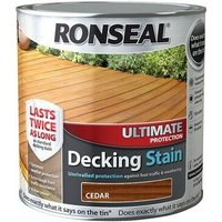 36908 Ultimate Protection Decking Stain Cedar 2.5 Litre - Ronseal