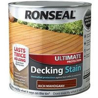 Ronseal 36909 Ultimate Protection Decking Stain Rich Mahogany 2.5 Litre