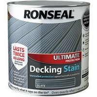 36913 Ultimate Protection Decking Stain Slate 2.5 Litre - Ronseal