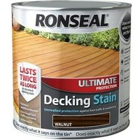 Ronseal 37456 Ultimate Protection Decking Stain Walnut 2.5 Litre