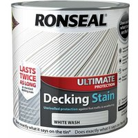 Ultimate Protection Decking Stain White Wash 2,5 Litre (RSLUDSWW25L) - RONSEAL