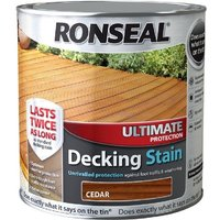 Ronseal Ultimate Protection Decking Stain - Cedar - 5 Litre