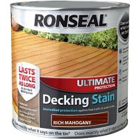 Ronseal Ultimate Protection Decking Stain - Mahogany - 5 Litre