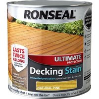 Ronseal Ultimate Protection Decking Stain - Natural Pine - 2.5 Litre