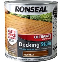 Ronseal Ultimate Protection Decking Stain - Rich Teak - 2.5 Litre