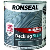 Ronseal Ultimate Protection Decking Stain - Slate - 2.5 Litre