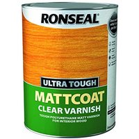 Ultra Tough Interior Varnish - Clear Matt 5litre - Ronseal