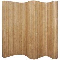 Zqyrlar - Room Divider Bamboo Natural 250x165 cm - Brown