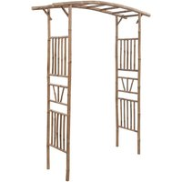 Zqyrlar - Rose Arch Bamboo 145x40x187 cm - Brown