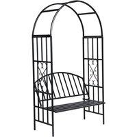 Garden Rose Arch with Bench - VIDAXL