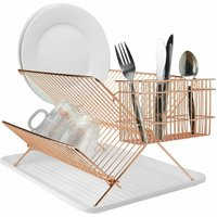 Rose Gold Folding Wire Drainer | MandW - Rose Gold