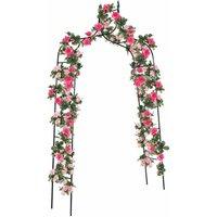 Rose Gothic Arbor Trellis Home Yard Garden Lawn Backyard Path Arch Archway