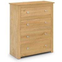 4 Drawer Chest Of Drawers WAXED PINE - Rosella