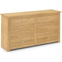 6 Drawer Chest Of Drawers WAXED PINE - Rosella