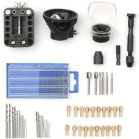 Rotary Tool Accessories Kit Mini Electric Drill Engraver Grinder Rotary Power Tool Sanding Polishing Rotary Tool Accessories Tool 46pcs HSS Router