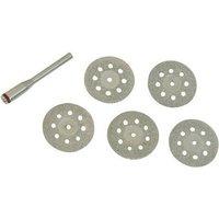 Silverline 719813 Rotary Tool Diamond Vented Cutting Disc Set 6pce 22mm Dia