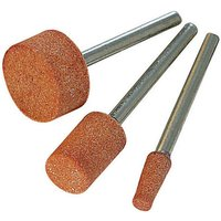282582 Rotary Tool Grinding Stone Set 3pce 9.5, 9.5 and 15.8mm Dia - Silverline