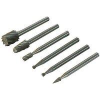 457038 Rotary Tool HSS Burr Set 6pce 2, 3, 5, 7mm Dia - Silverline