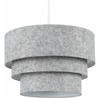 Round 3 Tier Felt Ceiling Pendant Light Lamp Shade Easy Fit