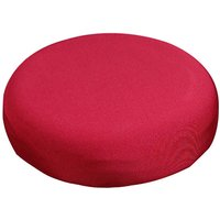 Round Bar Stool Cover Stretch Removable Elastic Chair Pad Protector, Red