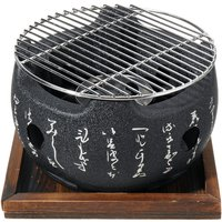 Round Table BBQ Grill Charcoal Grill Portable Barbecue Tool 20X20X15CM