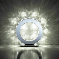 Round table lamp Galaxy 10W LED 6000K polished chrome / crystal