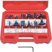 Briday - Router Bit, 12 PCS Straight Groove Cutter, Groove Cutter Set Wood Cutter Woodworking Tool Woodworking Tool (Plastic Case)