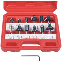 Langray - Router Bit, 12 PCS Straight Groove Cutters, Groove Cutter Set Wood Cutter Woodworking Tool Woodworking Tool (Plastic Case)