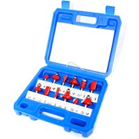 Router Bit Set of 12pcs 1/4 Inch Shank Carbide Tipped Woodworking Tool Set with Plastic Case,model: 12pcs