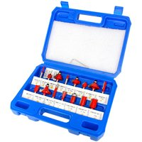 Router Bit Set of 15pcs 1/4 Inch Shank Carbide Tipped Woodworking Tool Set with Plastic Case,model: 15pcs