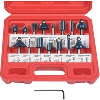 Router Cutters, 15 PCS Straight Groove Cutters, Groove Cutter Set Wood Cutter Woodworking Tool Woodworking Tool (Plastic Case) - Soekavia