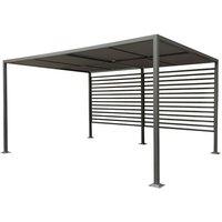 Florence Retractable Garden Canopy Sun Shade Pergola Grey 4m x 3m - Rowlinson