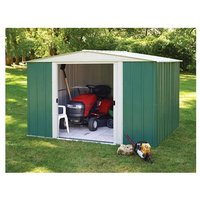 Rowlinsons - 10 x 8 Metal Apex Shed with sliding doors