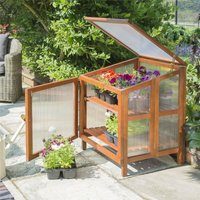 Hardwood Wooden Coldframe Garden Growhouse Greenhouse Planter Shelter - Rowlinson